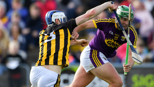 Wexford's Conor McDonald, in action against Kilkenny's Huw Lawlor, could be an out ball if the Model county go more direct