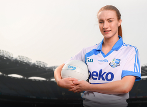 Lauren Magee of Dublin and Kilmacud Crokes was at the launch of the Beko Club Bua programme 2019. For more information visit leinstergaa.ie/club-bua/