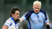 Dublin's Mark Vaughan punches Monaghan's Damien Freeman (for which he was subsequently sent off) during their NFL match in 2008. Photo: Sportsfile