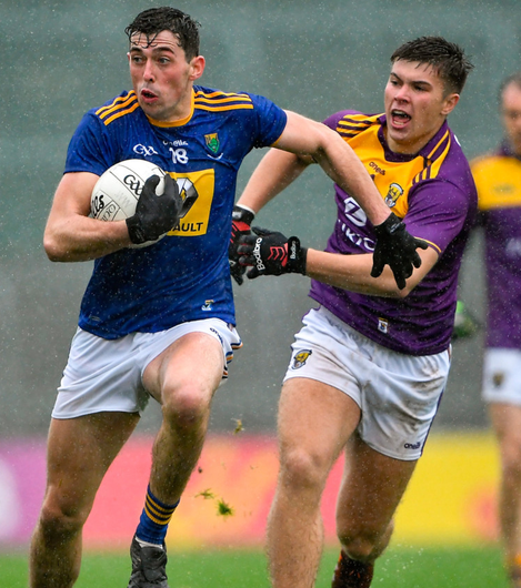 Wicklow's Pádraig O'Toole in action against Eoin Porter of Wexford in Wexford. Photo: Sportsfile