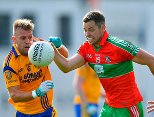 Dean Rock of Ballymun Kickhams in action against Jonny Cooper during Sunday's Dublin SFC tie