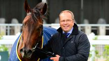 DYNAMC DUO: Siskin with his trainer Ger Lyons. Pic: PA