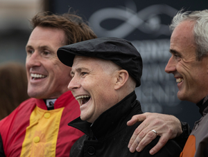 AP McCoy with Pat Smullen and Ruby Walsh last year