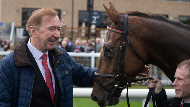 Trainer Dermot Weld with Tarnawa after her win at The Curragh last month