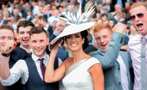 FESTIVAL FEVER: Racegoers enjoying the fun at the Galway Races. Photo: SPORTSFILE