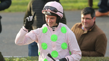 Patrick Mullins hasn't won the Galway Hurdle before but can do so this evening on Sharjah