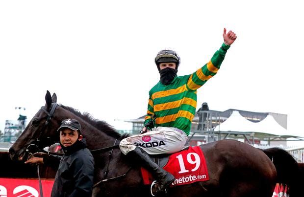 Early Doors and Mark Walsh after winning the Tote Galway Plate during day three of the Festival