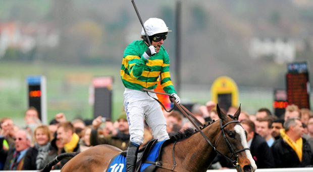 Jockey Tony McCoy, aboard Synchronised in 2012