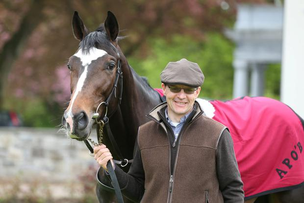 Aidan O'Brien with US Army Ranger during a press day at Ballyboyle