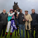 Titus, with Pat Smullen aboard, won the Irish Stallion Farms EBF C&G Maiden at Leopardstown Picture: Patrick McCann