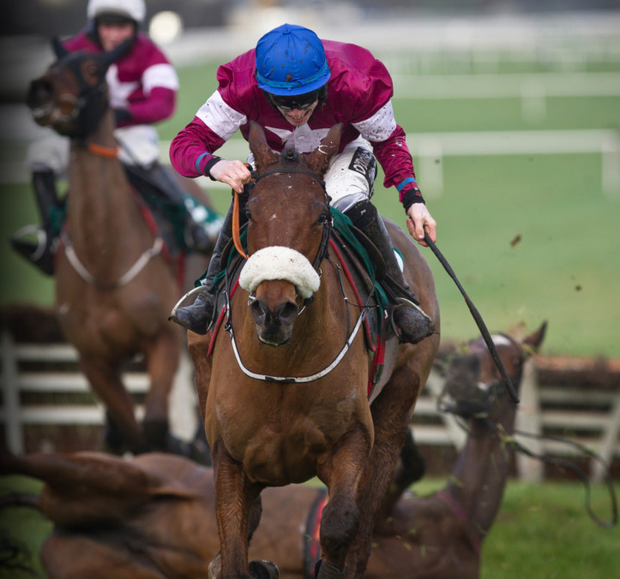 Death Duty on the way to victory with Jack Kennedy on board at Naas