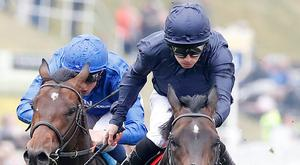 Cliffs of Moher, ridden by Ryan Moore, wins The Homeserve Dee Stakes at Chester