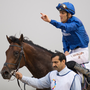 Thunder Snow, with Christophe Soumillon aboard, winning the UAE Derby in Dubai in March