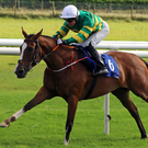Seamie Heffernan winning on Jer's Girl yesterday at Roscommon