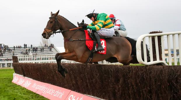 JUMP TO IT: Defi Du Seuil and Barry Geraghty winning at Cheltenham last month. Photo: Racing Post