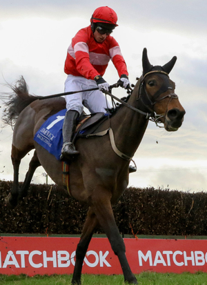 Cut The Mustard and Mikey Fogarty on their way to winning at Limerick in December