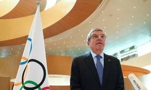 IOC chief Thomas Bach has indicated that the Tokyo Games could be held in the spring of 2021