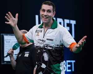 Willie O'Connor (pictured) from Limerick takes on Michael van Gerwen at the 3Arena tonight