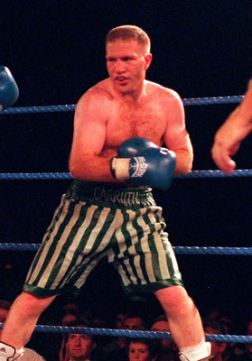 Michael Carruth in action at the National Stadium in 1998