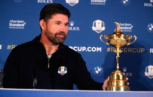 European Ryder Cup captain Pádraig Harrington