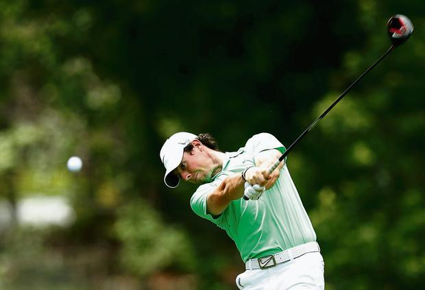 Rory McIlroy of Northern Ireland hits his tee shot on the 18th hole during the final round of the Memorial Tournament at Muirfield Village Golf Club on June 2, 2013 in Dublin, Ohio. (Picture: Scott Halleran/Getty Images)