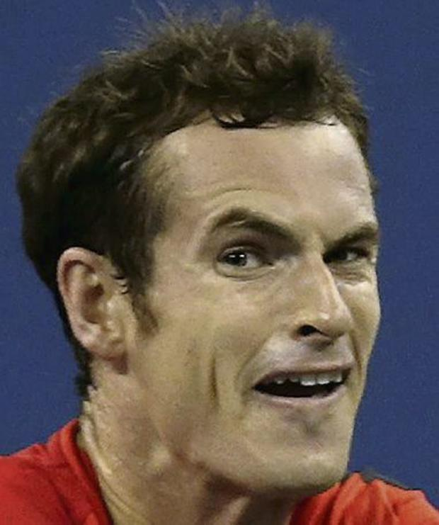 Andy Murray in action against Michael Llodra in New York. Picture: Charles Krupa/AP