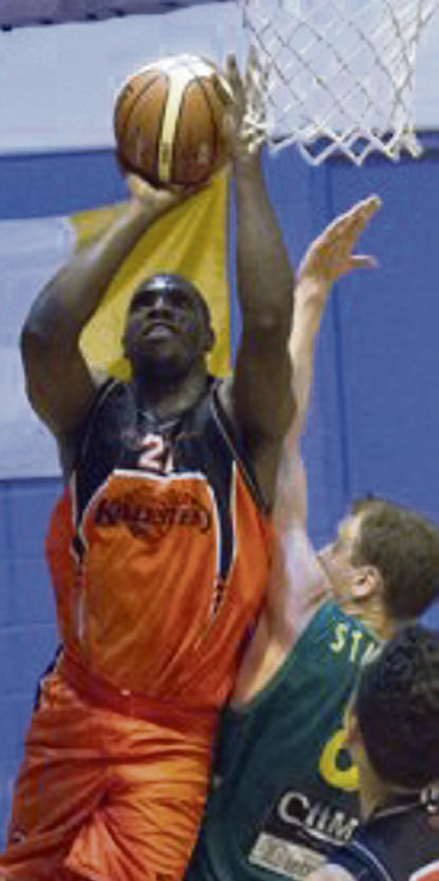 STAR POWER: Killester's Michael Bonaparte attacks the basket.