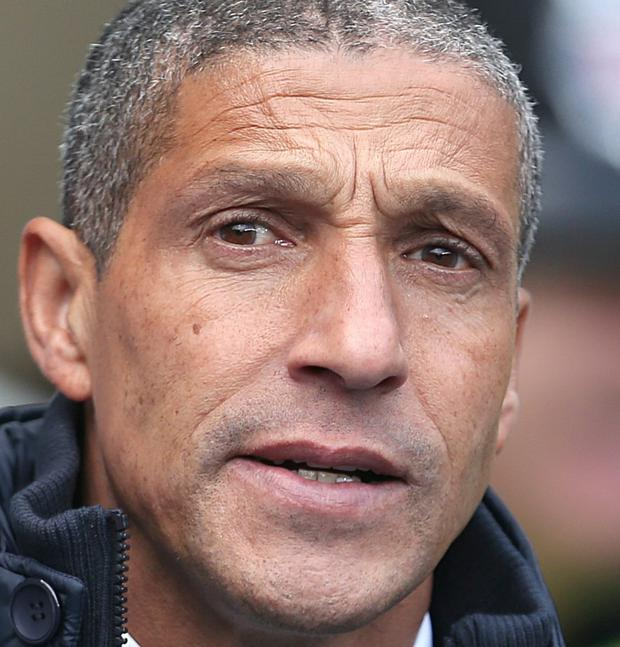 Norwich City manager Chris Hughton. Picture credit: Lynne Cameron/PA Wire.
