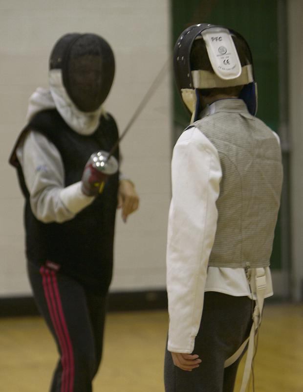 FOILED AGAIN: Fencers from Pembroke Fencing Club.