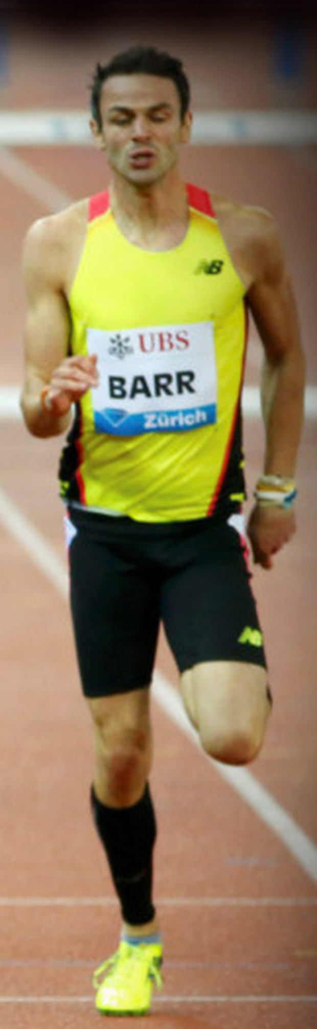 Thomas Barr during his excellent run in Zurich