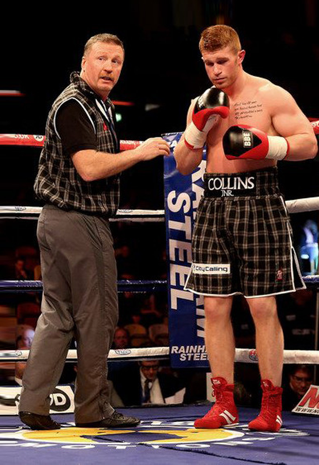 Steve Collins Jnr (right) will have his father in his corner tonight