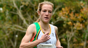 Fionnuala McCormack of Kilcoole AC, Wicklow on her way to winning the senior women's race during the Autumn Open Cross Country Festival at the National Sports Campus in Abbotstown. Pic: Sportsfile