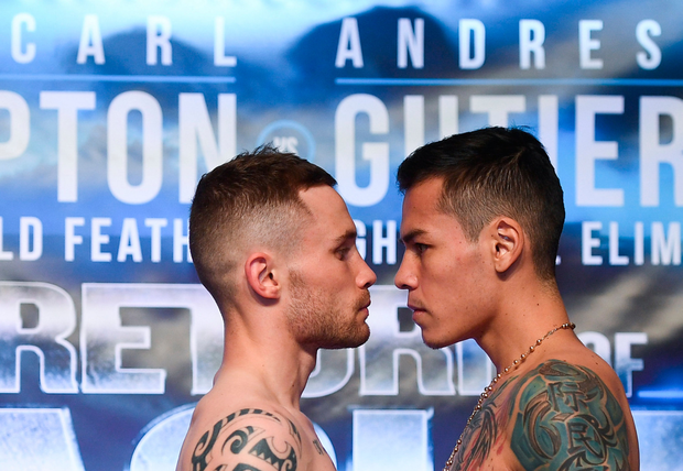 Carl Frampton and Andres Gutierrez were due to face off in Belfast tonight. Pic: Sportsfile