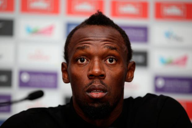 Bolt is due to bow out on the global stage in next month's World Championships. Pic: PA