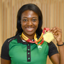 Ireland's Gina Akpe-Moses, who won gold in 100m at the homecoming of the Irish Team from the European Athletics U20 Championships, back in July. Pic: Sam Barnes/Sportsfile