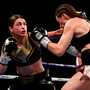 CHAMPION: Katie Taylor fires a left jab at Kimberly Connor during their WBA & IBF World Lightweight Championship bout at The O2 Arena, London on Saturday night. Photo: SPORTSFILE