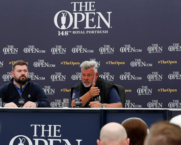 Darren Clarke willbe first to tee off in this year's British Open at Royal Portrush on Thursday