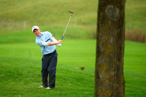 DETERMINATION: Ireland's Gavin Moynihan in action during Day 4 of the Open de France at Le Golf National in Paris yesterday. Photo: Getty Images
