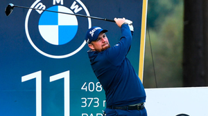 Shane Lowry tees off on the 11th hole during Day 2 of the BMW PGA Championship at Wentworth