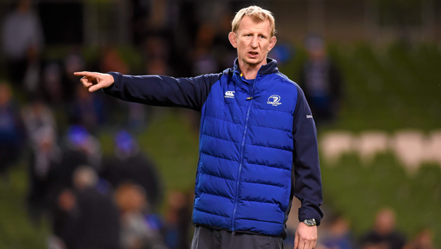 Leinster coach Leo Cullen on the sideline at the Aviva Stadium on Saturday evening Photo:Sportsfile