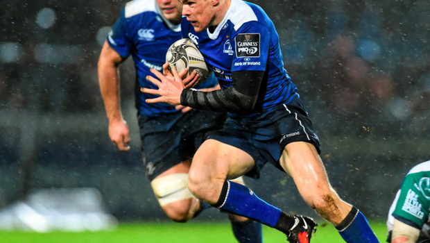 Leinster's Garry Ringrose makes a break during the Guinness PRO12 clash with Connacht at the RDS Photo:Sportsfile