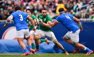 GREEN MACHINE: Jack Conan in action for Ireland against Italy in Chicago in November. Photo: SPORTSFILE