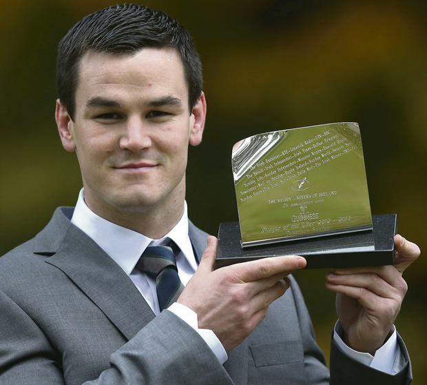 Guinness Rugby Writers of Ireland Player of the Year Jonathan Sexton. Picture: INPHO/Billy Stickland