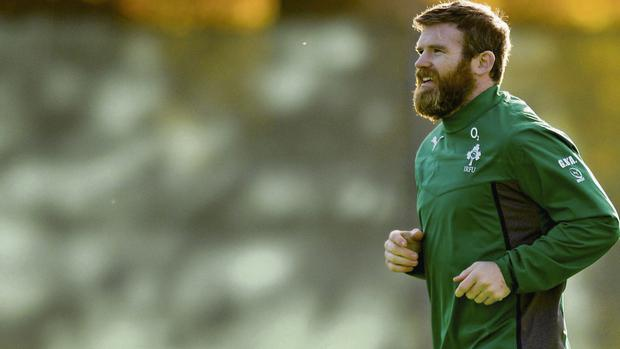 UP FOR THE CHALLENGE: Gordon D'Arcy returns to the centre for Ireland against New Zealand tomorrow