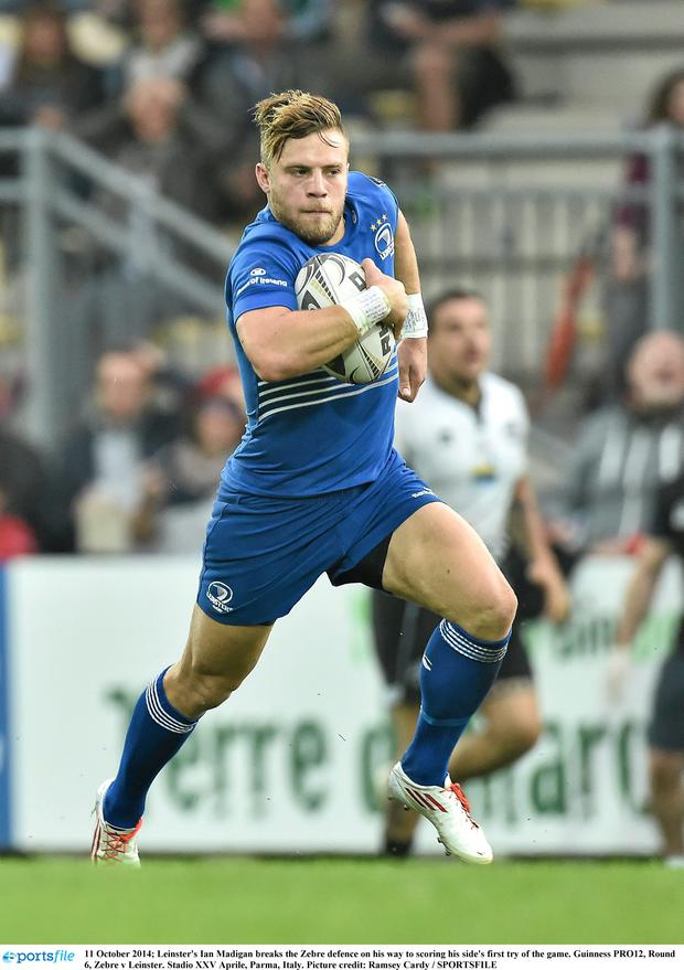 Ian Madigan in action for leinster