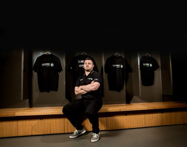 Cian Healy at the launch of Flexiseq, the drug-free gel for joint pain and stiffness
