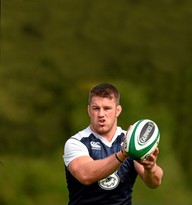 Ireland skipper Sean O'Brien at squad training