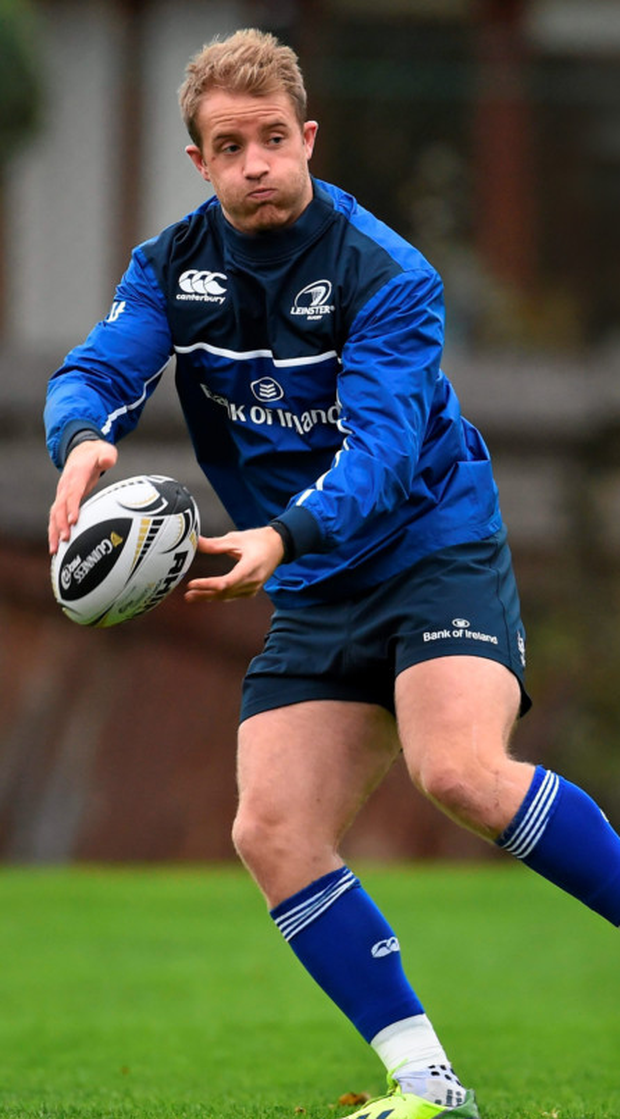 Luke Fitzgerald in action during Leinster squad training