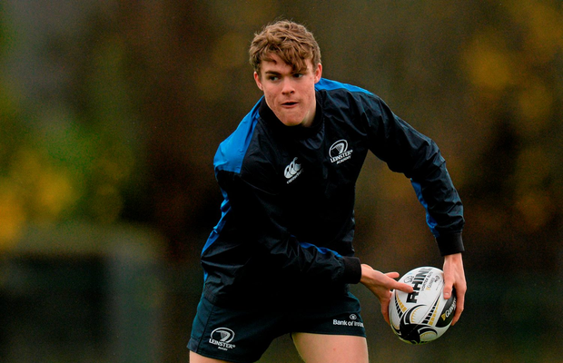 Leinster's Garry Ringrose in action training in Belfield