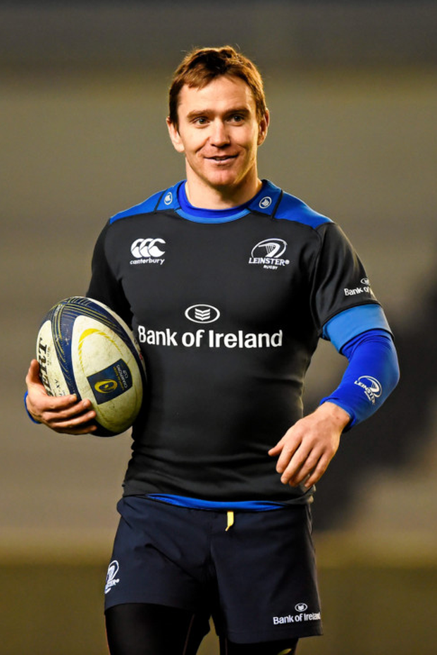 Eoin Reddan at Leinster squad training